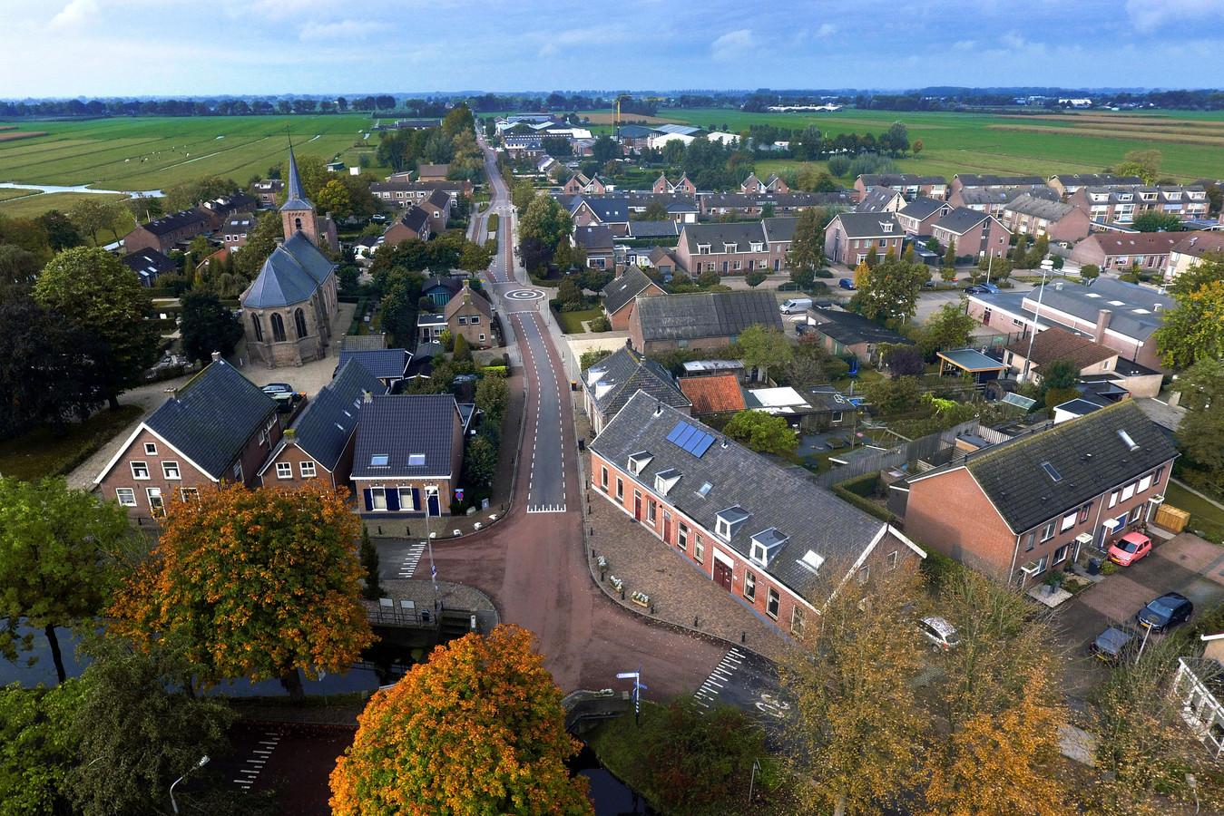 Luchtfoto van Nieuwland.
