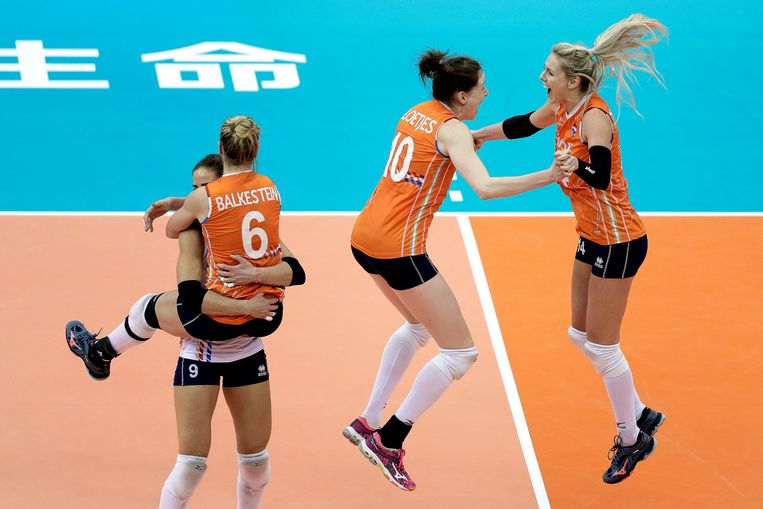De Nederlandse volleybalsters behoren alweer een paar jaar tot de absolute wereldtop. Beeld EPA