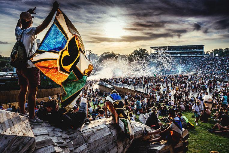 Een sfeerbeeld van Tomorrowland 2019. Beeld Stefaan Temmerman