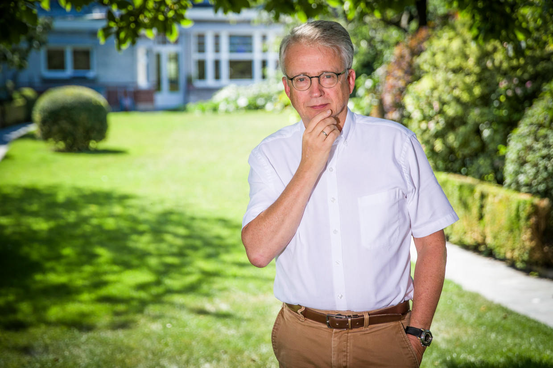 Michel Bafort, hoofd verloskunde in het AZ Alma in Eeklo. Beeld Simon Mouton Photo News