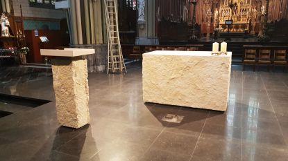 Zondag wijding: dit is het nieuwe altaar van de Sint-Vincentiuskerk