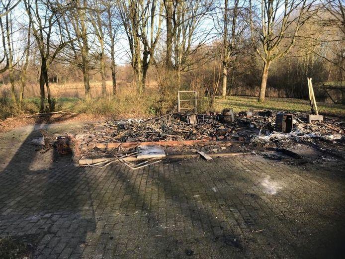 De restanten van het Westpunt in het Westerpark.