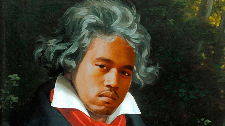 Het project 'Yeethoven' – Kanye West meets Beethoven – klonk als een grap, maar was er geen. Beeld rv