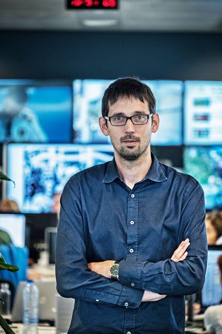 Brecht Decaestecker, hoofdredacteur digitaal bij de openbare omroep, wil de nieuwe samenwerking tussen de verschillende VRT-redacties optimaal uitspelen. Beeld Tim Dirven