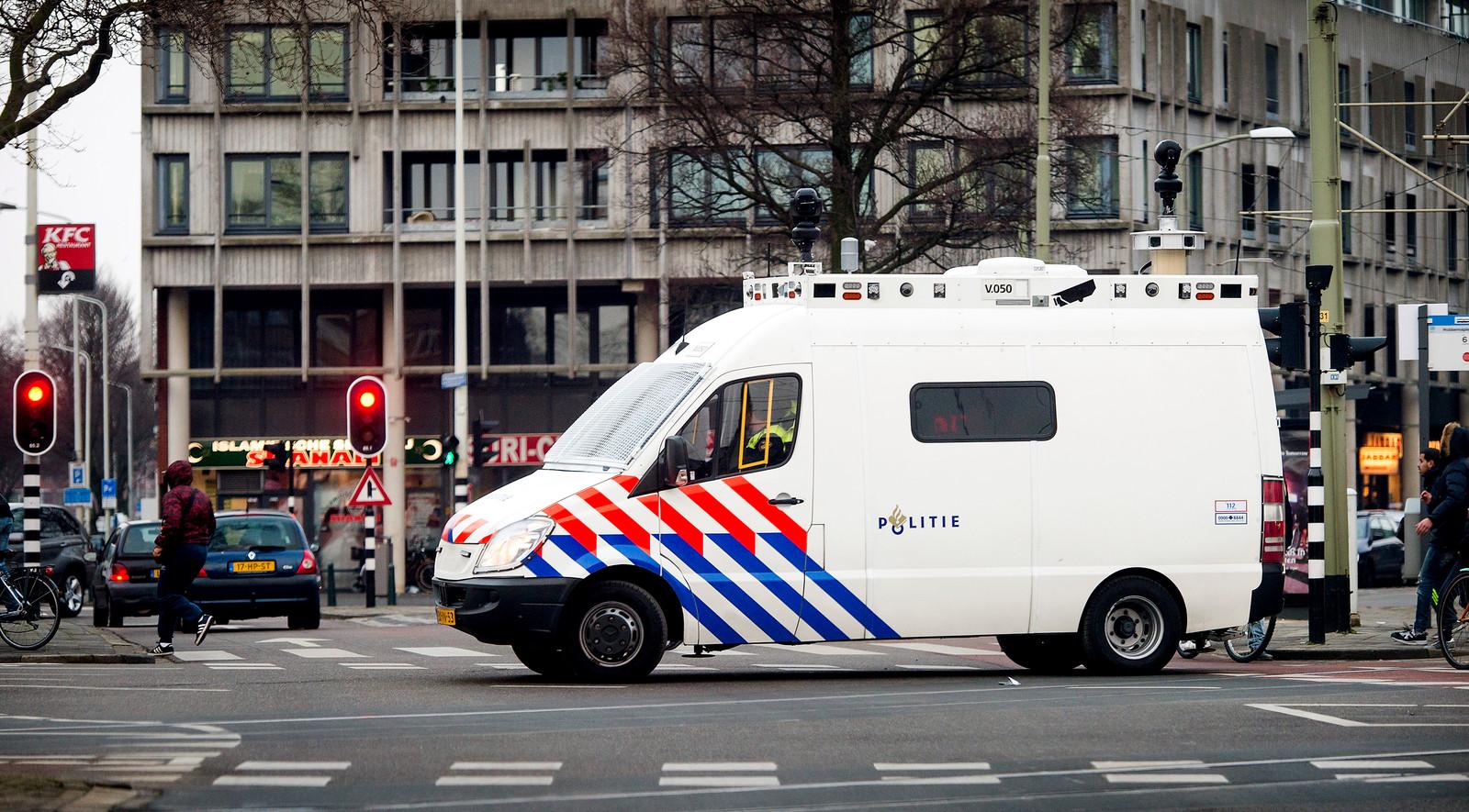 Een politiebus, foto ter illustratie