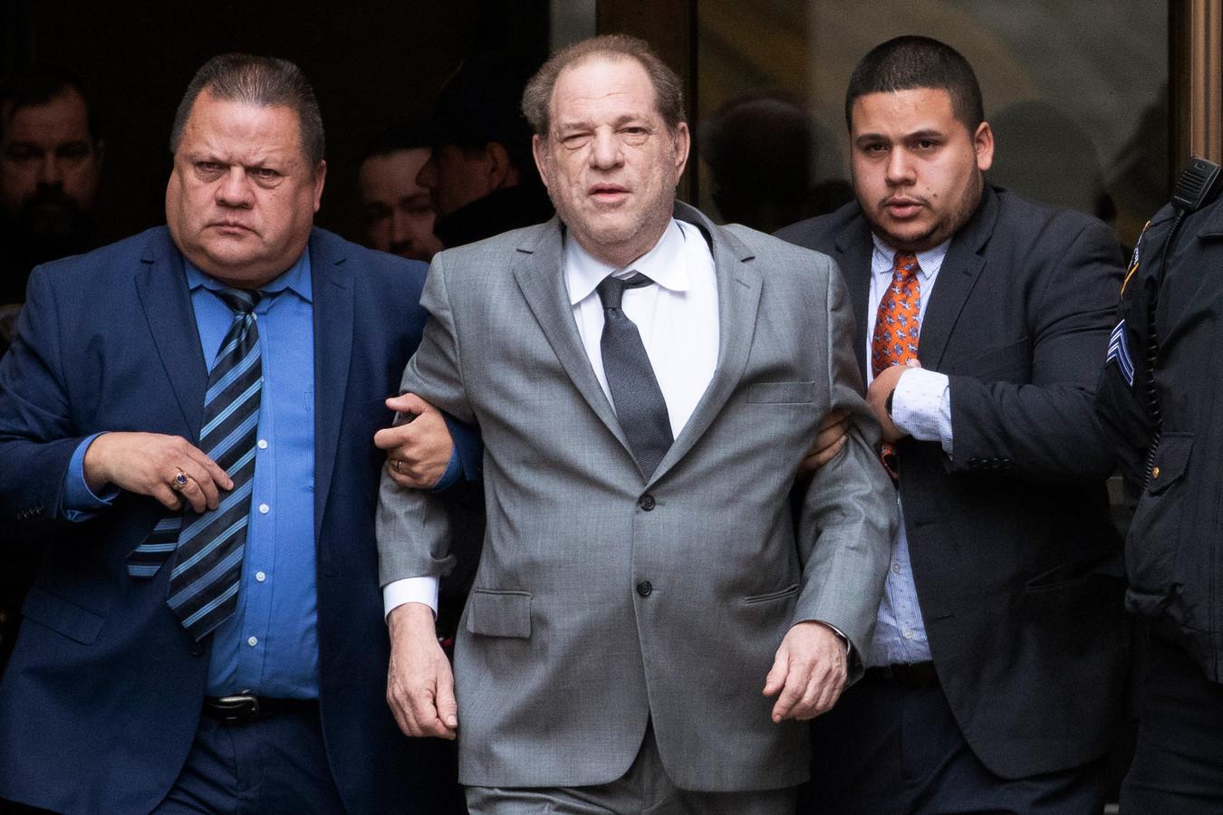 Harvey Weinstein aan de rechtbank in New York.