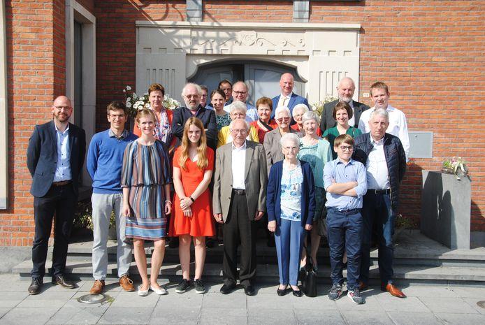 De jubilarissen werden ontvangen op het gemeentehuis.