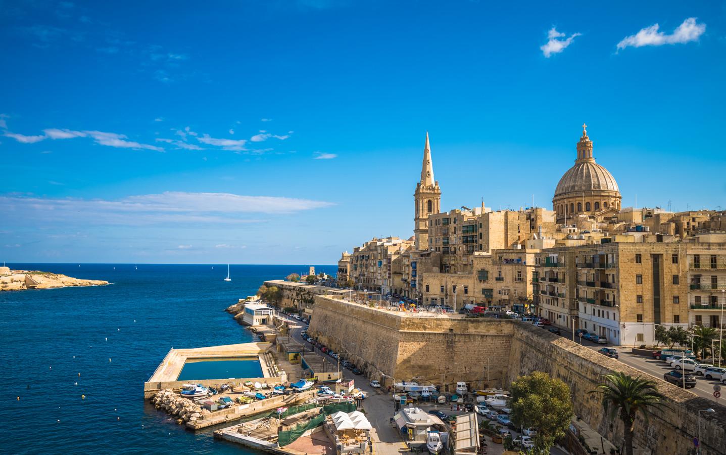 Een fraai beeld van Valletta, de hoofdstad van Malta.