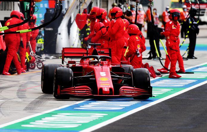 Ferrari-coureur Sebastian Vettel.