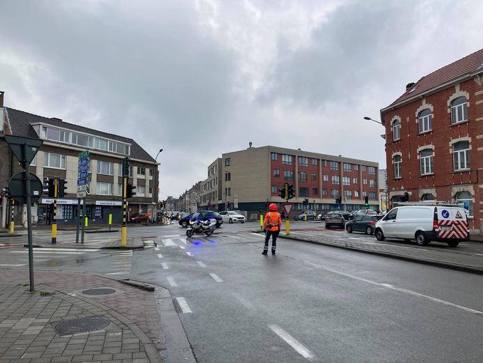 De Drongensesteenweg werd afgesloten voor verkeer