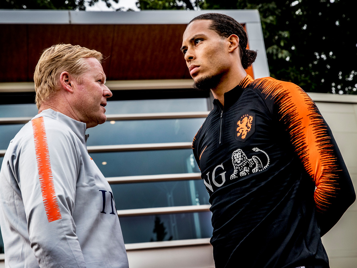 Ronald Koeman en Virgil van Dijk.
