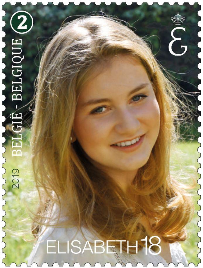 Koning Filip zette zijn dochter in de tuinen van Laken op de foto voor een speciale postzegel ter ere van haar achttiende verjaardag.