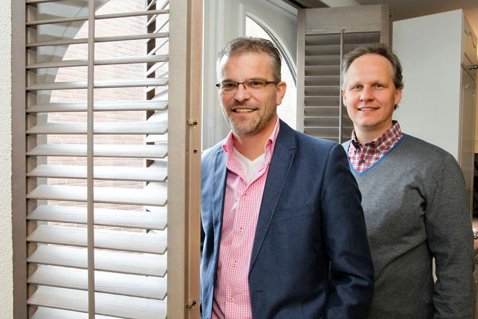 Eigenaren Simon Sants en Johan Jeroen Hermans van Jasno in Eersel (archieffoto).