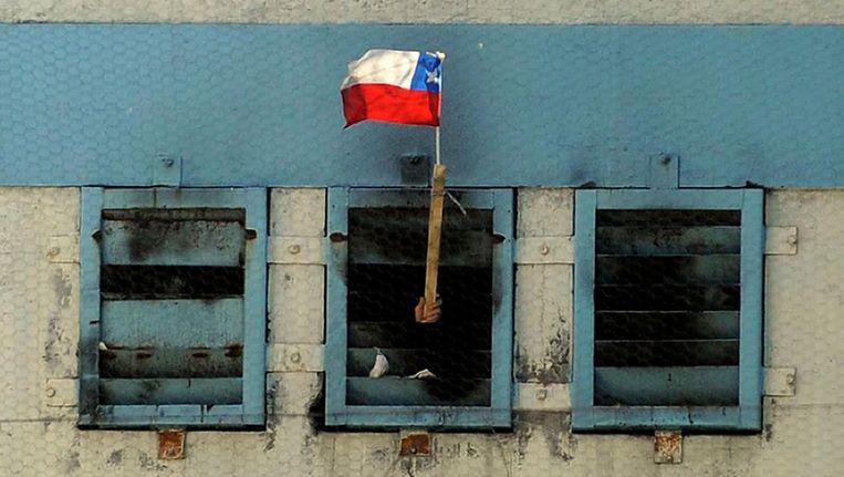 Een Chileense gevangenis. Beeld afp