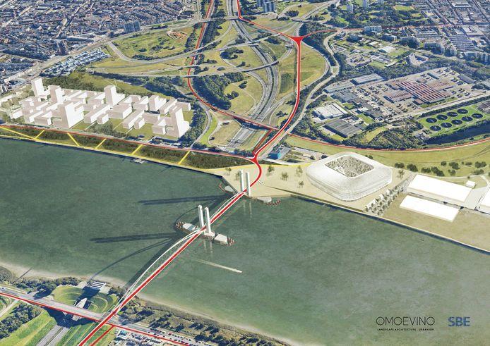 De brug zal een essentieel onderdeel vormen van de verkeersinfrastructuur die rond Antwerpen wordt aangelegd en maakt het mogelijk om bestaande en nieuwe fietsverbindingen in de ringzone en op Linkeroever met elkaar te verbinden.