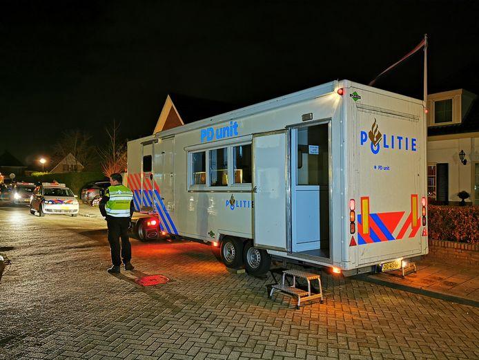 Onderzoek van de politie na de moordzaak aan de Hooiberg in Didam, december vorig jaar.