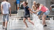Fontein op Marktplaats zorgt voor waterplezier