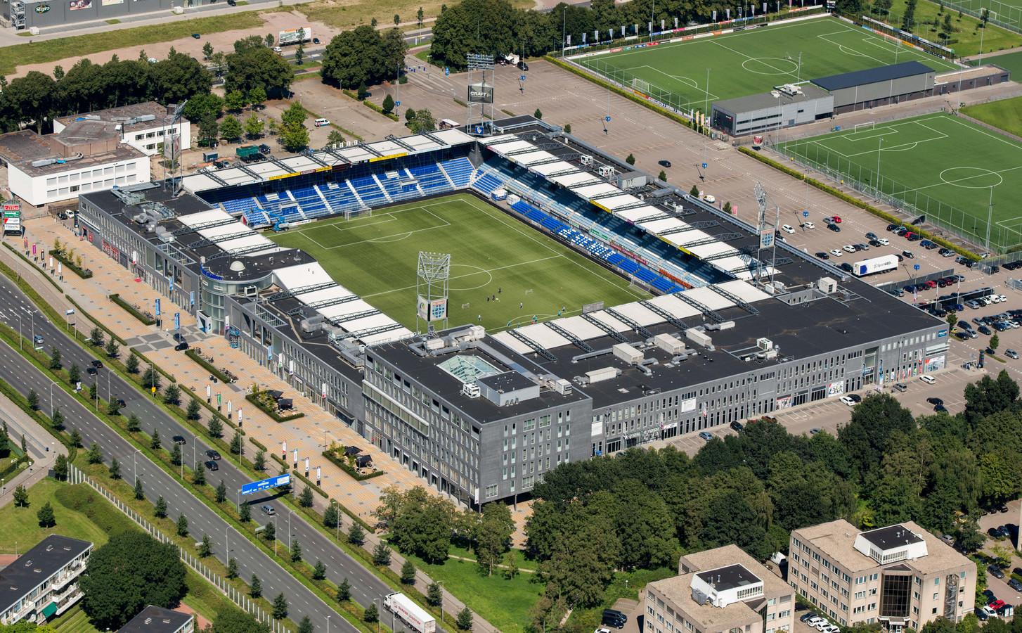Het stadioncomplex in Zwolle.