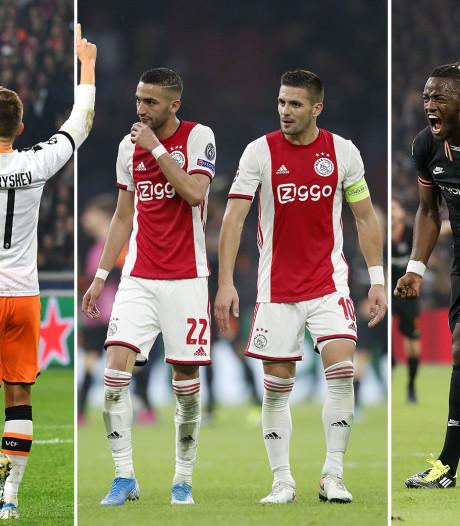 Dit is de stand in de groep van Ajax