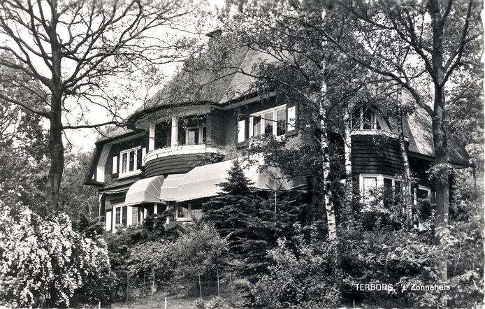 Het Zonnehuis in Terborg tijdens de Tweede Wereldoorlog. Foto uit boek