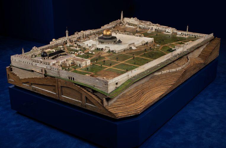 Maquette van de Tempelberg Haram al-Sharif  Museum Catharijneconvent / Ruben de Heer Beeld Museum Catharijneconvent / R