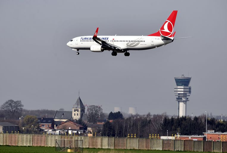 Foto ter illustratie: vliegtuig vlakbij Brussels Airport in Zaventem. Beeld BELGA