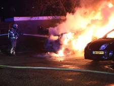 Drie auto's in Apeldoorn tegelijk in brand gestoken