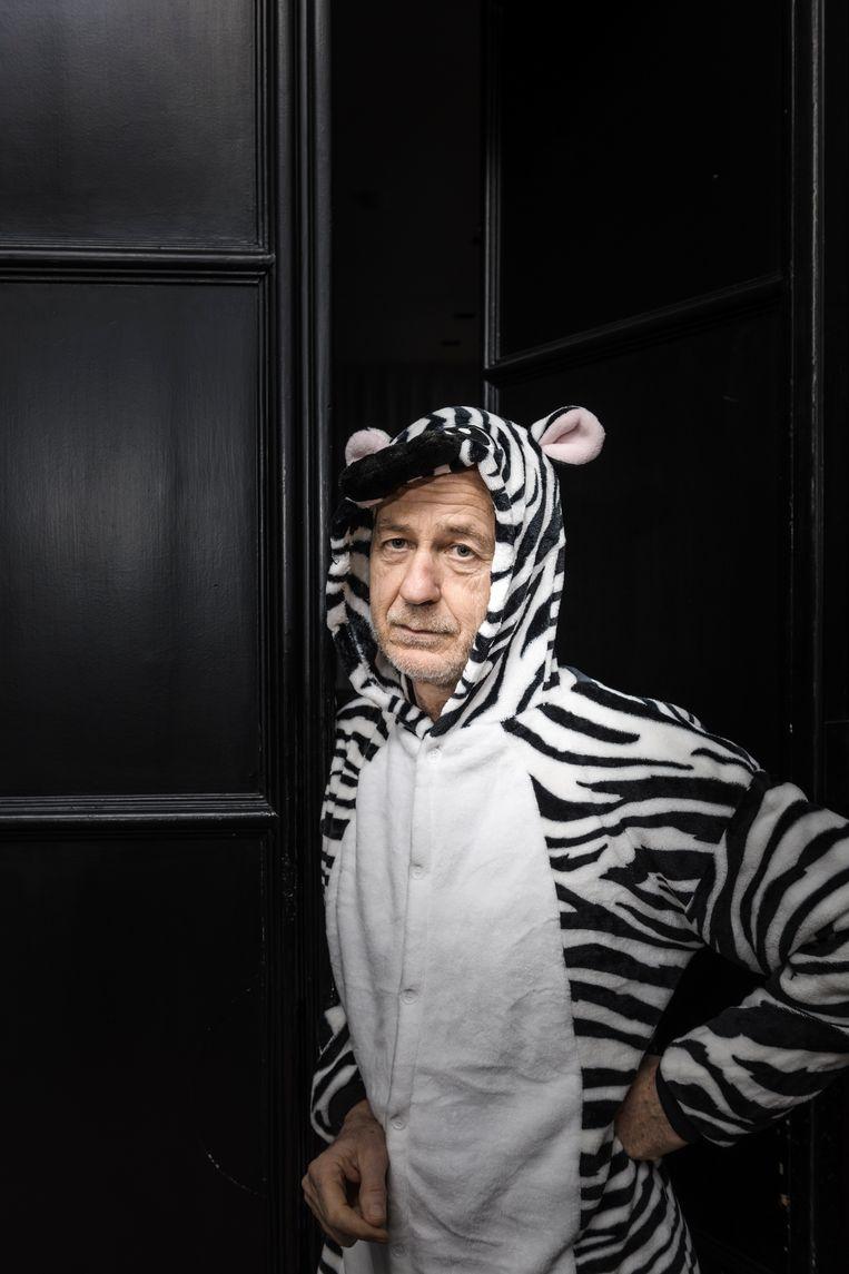 'Zebraman' Tim Caro. Beeld ©Maurice Weiss/OSTKREUZ