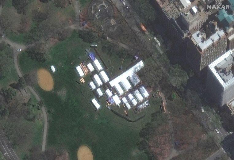 In Central Park is een noodhospitaal opgezet. Beeld AFP