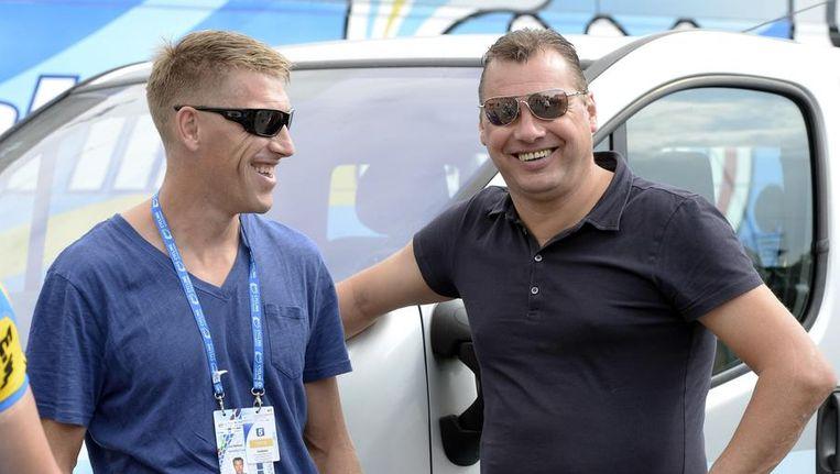 Wilfried Peeters (r) naast Axel Merckx. Beeld PHOTO_NEWS