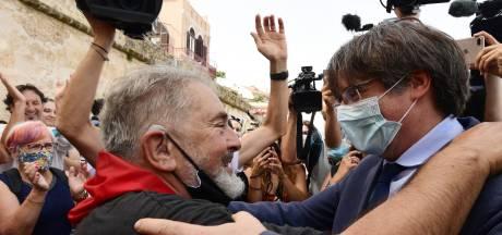 Voormalige Catalaanse leider Puigdemont 'viert' vrijlating