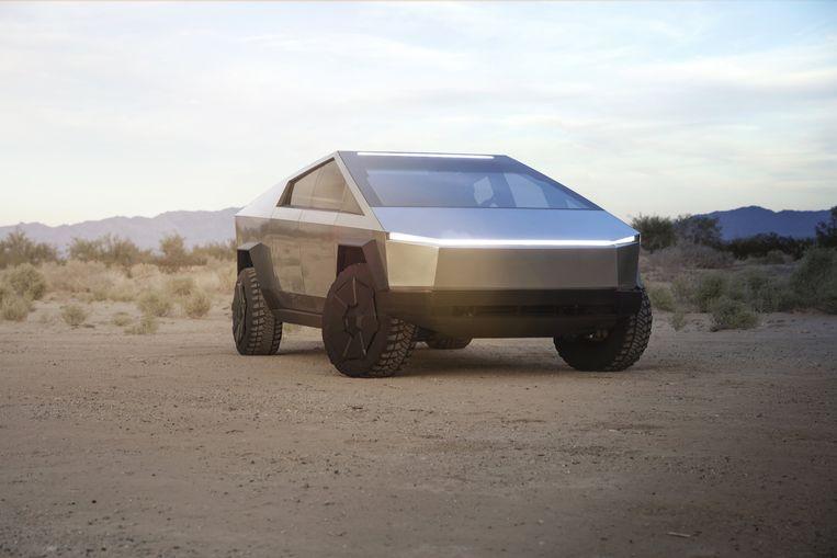 Eigenaars van een Tesla Cybertruck kunnen fluiten naar een Vlaamse premie voor elektrische wagens. Beeld Photo News