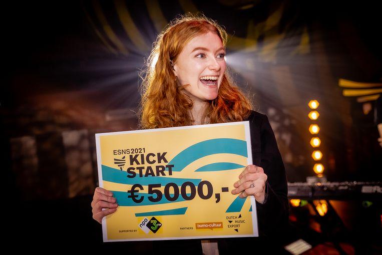 Poptalent Froukje was een van de winnaars van de ESNS Kickstart.  Beeld Ben Houdijk