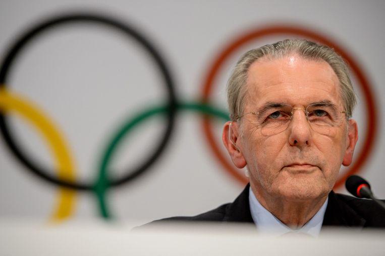 Jacques Rogge in 2013. Hij was van 2001 tot en met 2013  voorzitter van het IOC.  Beeld AFP