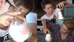 Knutselen met het hele gezin: Evi Hanssen en haar zonen maken stoepkrijt-ijsjes