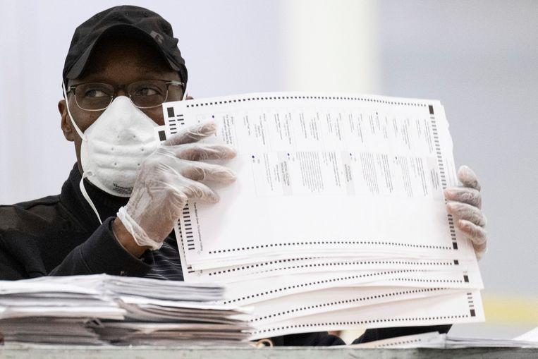 Stemmen worden herteld in Lithonia, Georgia. Beeld AP