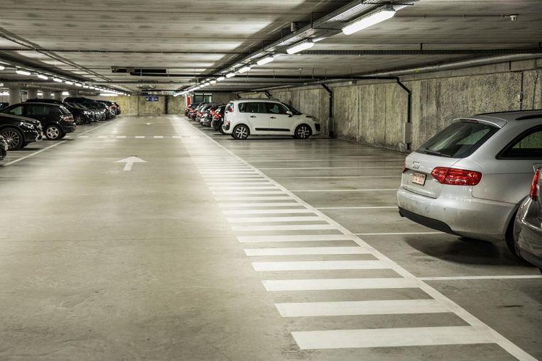 De ondergrondse parking op het Sint-Pietersplein.