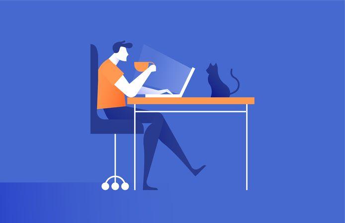 Afbeelding ter illustratie. Je kunt alles leasen voor je thuiswerkplek, van ergonomisch verantwoorde bureaustoel tot monitor én luxe koffiezetapparaat.
