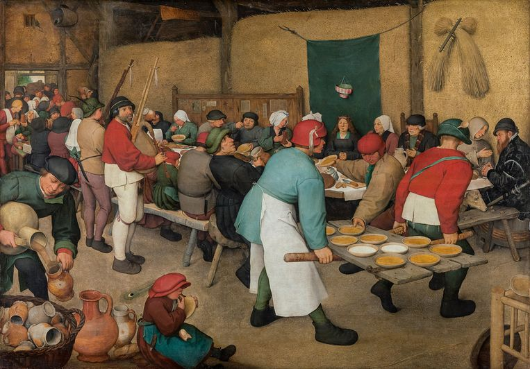 Pieter Bruegel, 'De boerenbruiloft' (1525-1530).  Beeld RV © KHM-Museumsverband