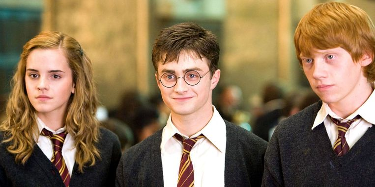 Harry Potter, Hermelien en Ron