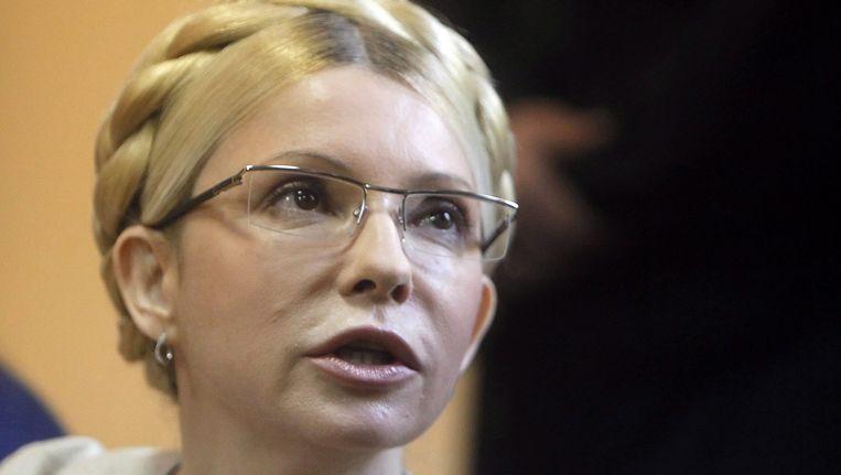 De voormalige Oekraïense premier Joelia Timosjenko Beeld EPA