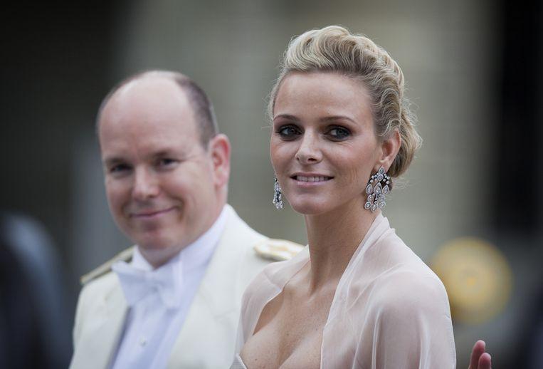 Prins Albert en Charlene van Monaco. Beeld ANP