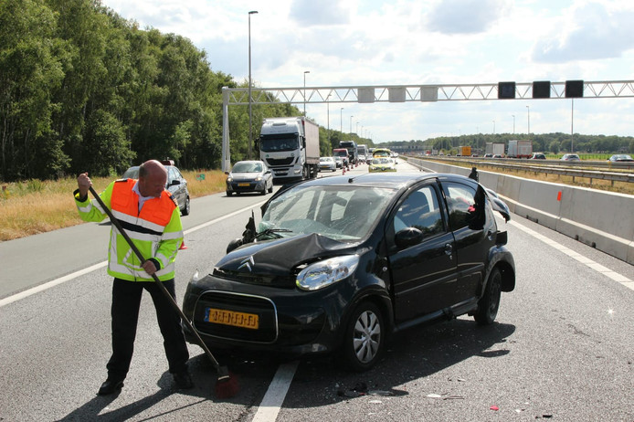 Ongeval op A1 bij Rijssen