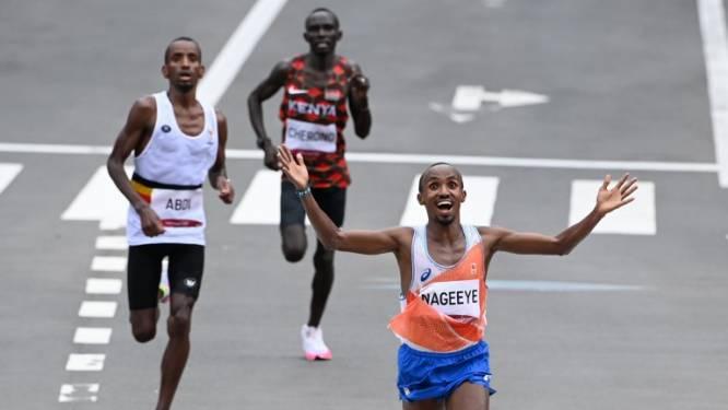 """Hoe de Nederlandse marathonloper Abdi Nageeye een droomscenario smeedde: """"Ik riep heel hard: blijf bij mij, we gaan geschiedenis schrijven"""""""