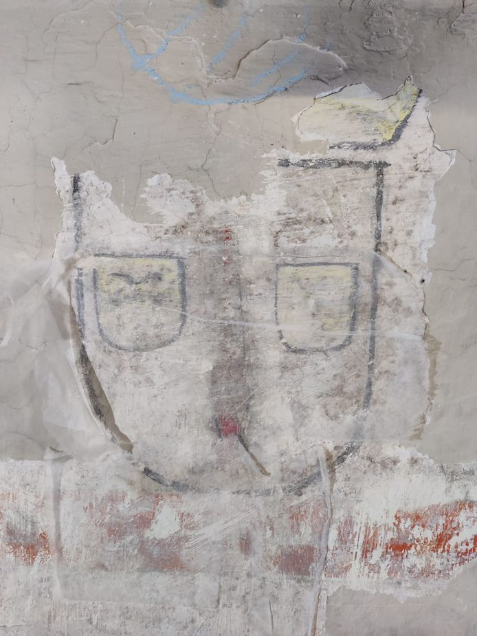 Wapenschild ontdekt in Sint-Martinuskerk.