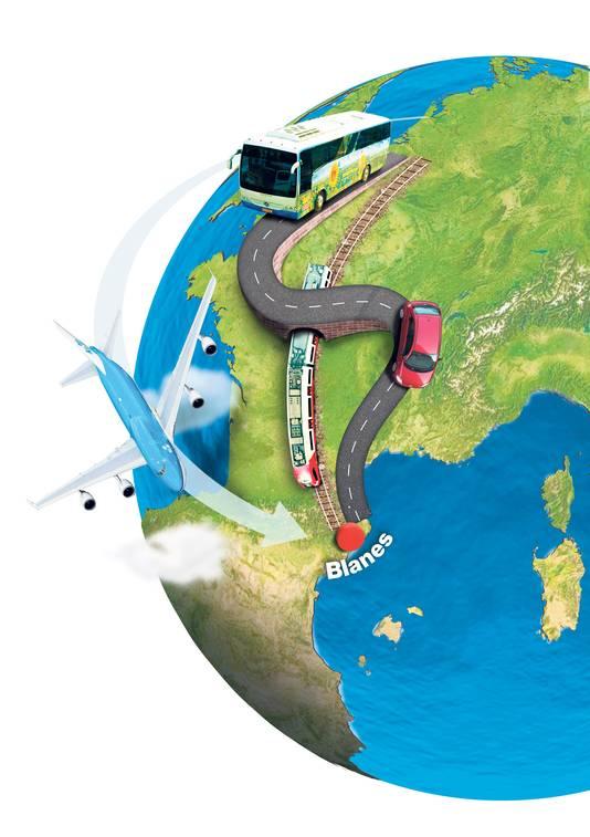 Reistijd vliegen: ca. 7 uur Uitstoot CO2: 450 kg p.p. Prijs: 250 euro p.p.