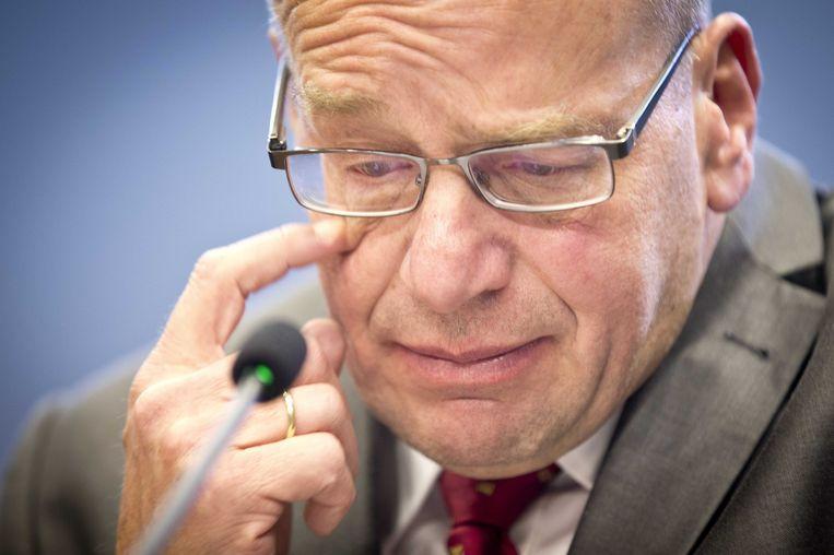 Voormalig staatssecretaris Fred Teeven van Justitie. Hij vertrok samen met minister Opstelten nadat die de Kamer verkeerd had geïnformeerd over een oude deal van justitie met drugscrimineel Cees H. Beeld ANP