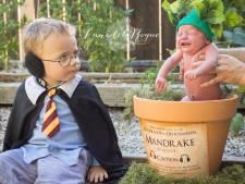 Un bébé déguisé en mandragore: le faire-part trop mignon