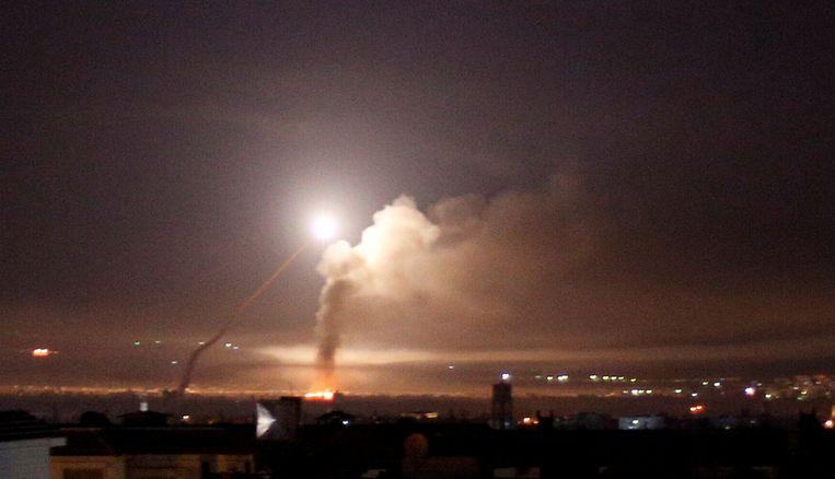 Archiefbeeld: Een raketinslag in Syrië.