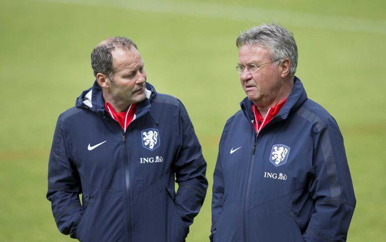 Danny Blind en Guus Hiddink. Beeld anp